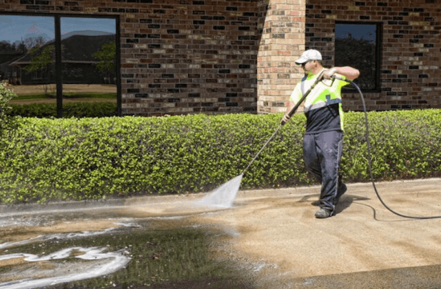commercial concrete cleaning in aurora